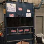 Vertical mill size baler